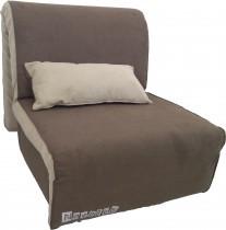 Fotelj z ležiščem Novelty temno rjav - akcija