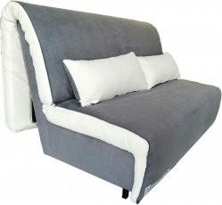 Kavč z ležiščem Novelty 140 cm siv - akcija