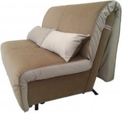 Kavč z ležiščem Novelty 120 cm toplo rjav