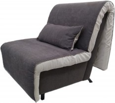 Fotelj z ležiščem Novelty rjav - akcija