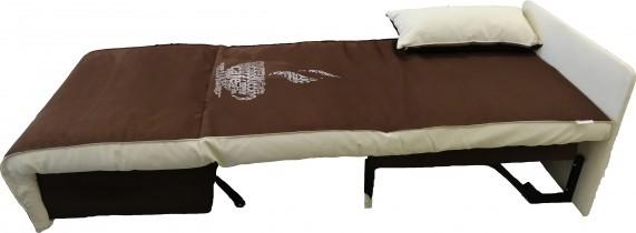 Fotelj z ležiščem Elegant Coffee 80 cm