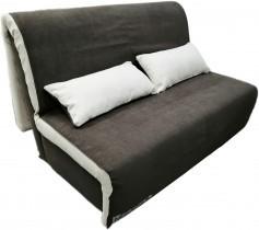 Kavč z ležiščem Novelty 160 cm temno rjav