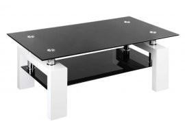 Klubska miza Next bela + črna
