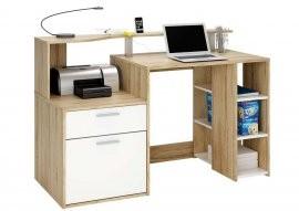 Računalniška miza Oracle hrast
