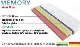 Ležišče Memory 160x200 cm