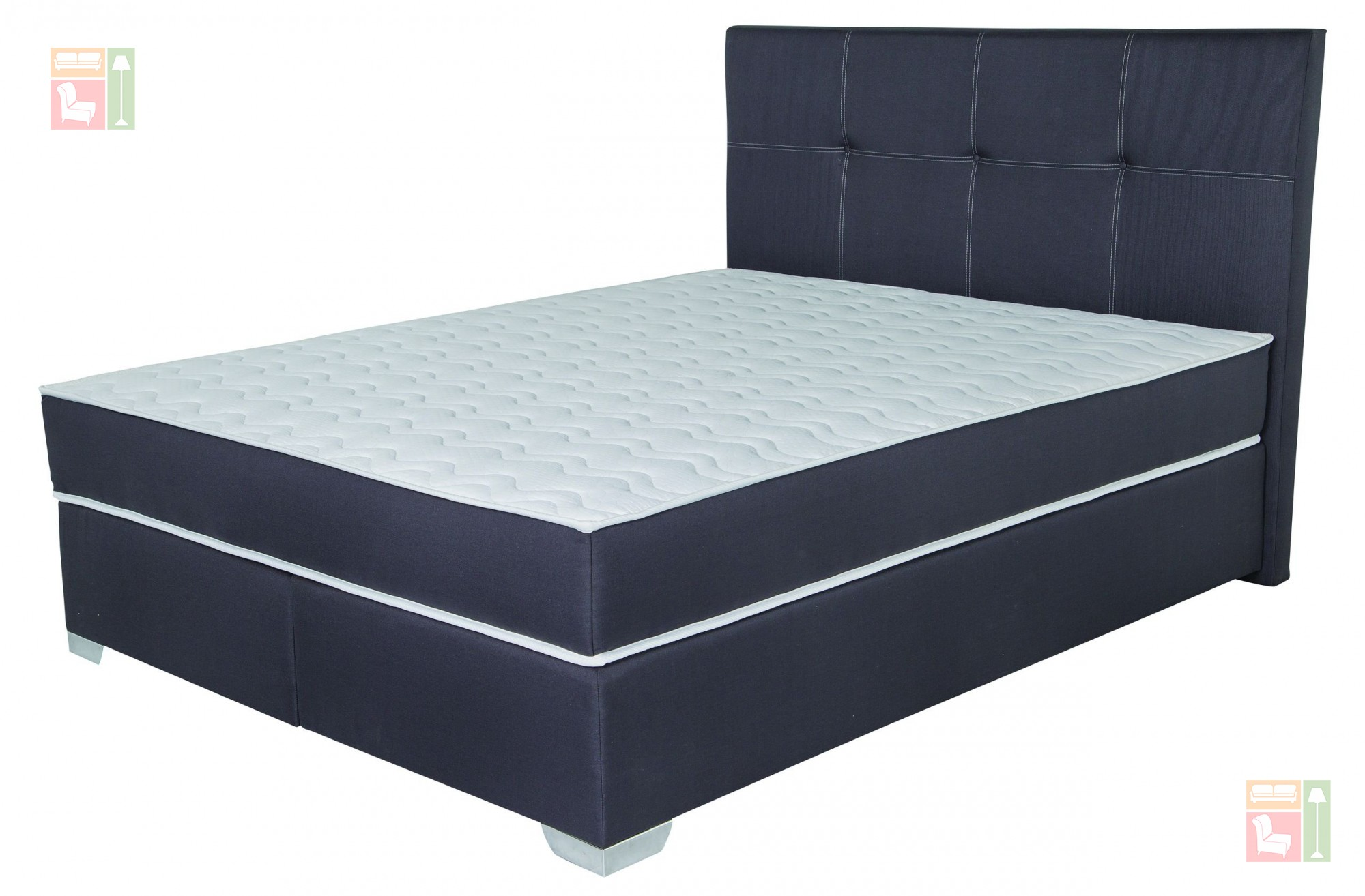 boxspring postelja monro 140x200 505 prodaja v sloveniji garancija dostava odli ne cene v. Black Bedroom Furniture Sets. Home Design Ideas