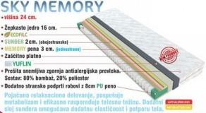 Vzmetnica Sky memory 120x200 cm