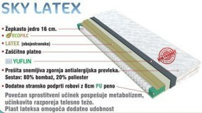 Vzmetnica Sky Latex 90x200