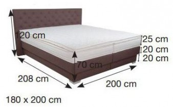 Boxspring postelja Butterfly 180x200 cm