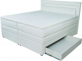 Boxspring postelja Led 180x200
