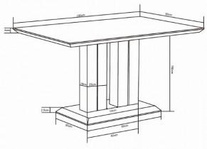 Jedilna miza Jazzie III 160 cm
