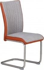 Stol Amico siv + oranžen