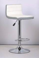 Barski stol Lirija II bel + siv