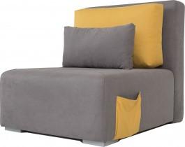 Fotelj z ležiščem Ambi - siva+oranžna