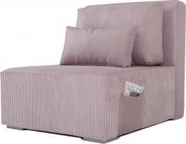 Fotelj z ležiščem Ambi - pepel roza