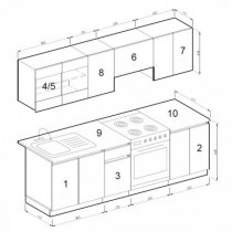 Kuhinjski blok Lana 240 cm