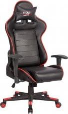 Gaming stol Bremen Črna + Rdeča