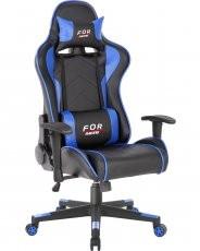 Gaming stol Kelt črn+moder