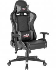 Gaming stol Kelt črn+siv