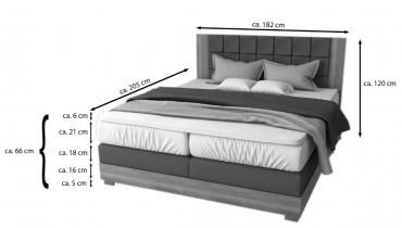 Boxspring postelja Alabama 180x200