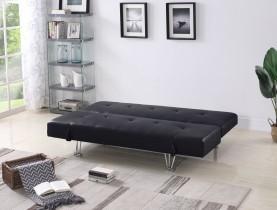 Kavč z ležiščem Gina črn