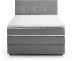 Boxspring postelja Como 140x200 cm - siva