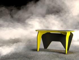 Računalniška miza Piar 2 - črna+rumena