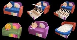 Otroški kavč transformer z ležiščem Chip