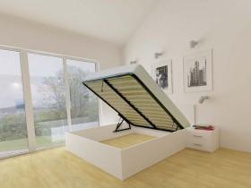 Dvižna postelja Lift bela - 160x200 cm