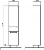 Omara za kopalnico Avalon - 40 cm talna