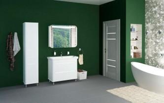 Ogledalo za kopalnico z omarico Avalon - 100 cm LED