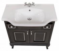Omarica z umivalnikom Beatriče - 80 cm črna krom