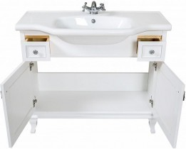 Omarica z umivalnikom Beatriče - 100 cm bela krom
