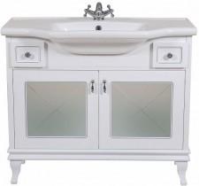 Omarica z umivalnikom Beatriče - 100 cm Lux bela krom