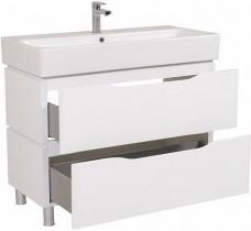 Omarica z umivalnikom Venice - 100 cm bela talna