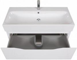 Omarica z umivalnikom Venice - 100 cm bela stenska