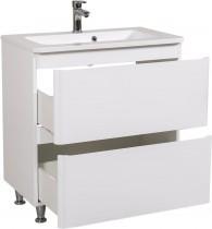 Omarica z umivalnikom Akcent - 80 cm bela talna