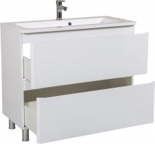 Omarica z umivalnikom Akcent - 100 cm bela talna