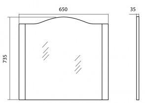 Ogledalo za kopalnico New Klasik - 65 cm