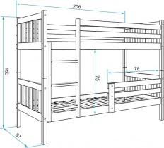 Pograd Carino brez predala - 90x200 cm