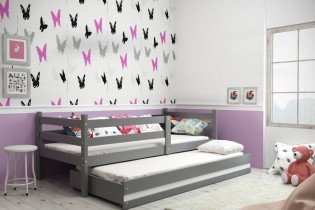 Otroška postelja Eryk - 90x200 cm z dodatnim ležiščem