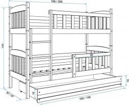Pograd Kubus - 90x200 cm