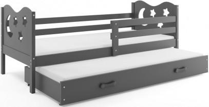 Otroška postelja Miko - 90x200 cm z dodatnim ležiščem
