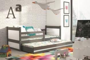 Otroška postelja Rico - 90x200 cm z dodatnim ležiščem
