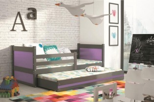 Otroška postelja Rico - 80x190 cm z dodatnim ležiščem