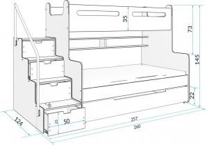 Pograd Max-3 - 120x200 cm moder