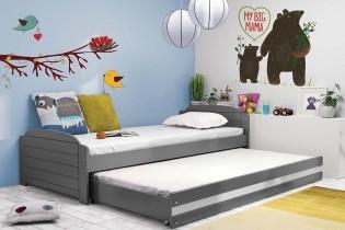 Otroška postelja Lili - 90x200 cm z dodatnim ležiščem