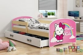 Otroška postelja Luki - 80x160 cm - barva bor
