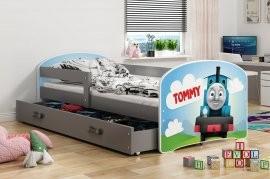 Otroška postelja Luki - 80x160 cm - barva graphite