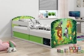 Otroška postelja Luki-1 - 80x160 cm - barva bela